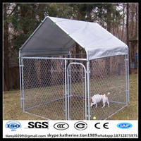 strong stainless steel dog cage or hot dipped galvanized chain link large steel dog kennel cage