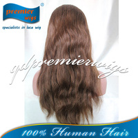 Brown color #4/#30 High light America women Stock Indian wigs Full Lace Wig Best Hight Quality human hair