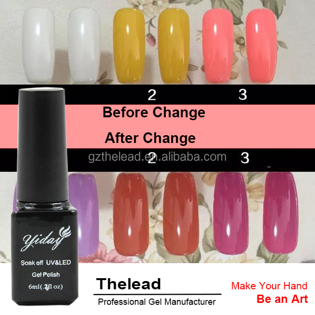 YIDAY New Arrival Charming Color Light Changing Gel 2016 Private Label Nail Polish Manufacturers