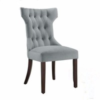 U2 Habit Solid Wood Tufted Dining Chair Classic Tufted Upholestered Dining Chair, Gray
