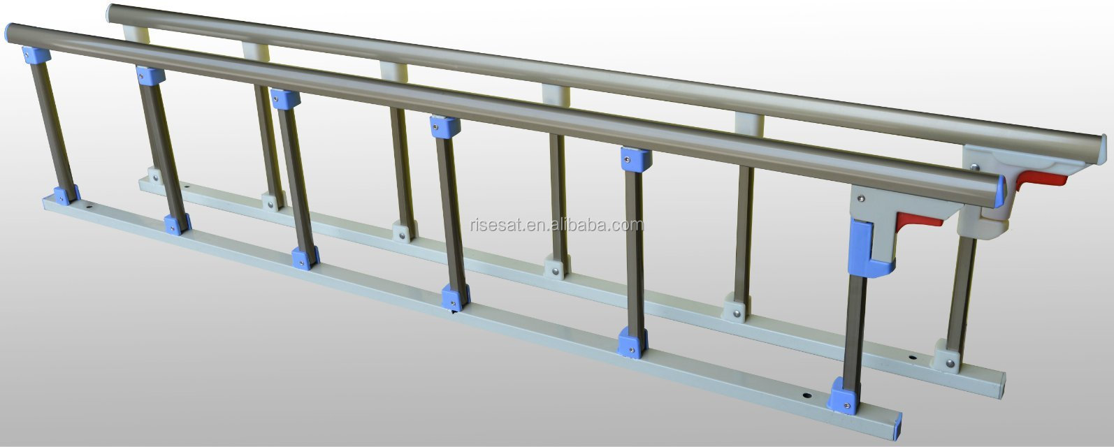Stainless Steel Hospital Bed Side Rails , hospital bed folding guard rails