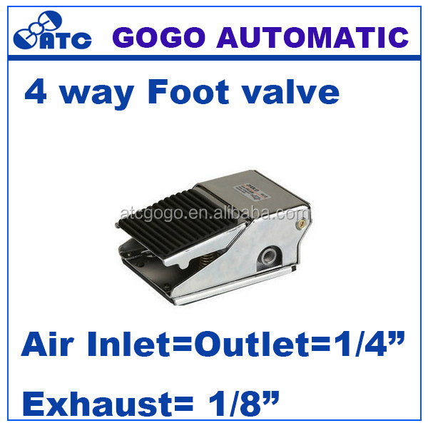 4 way air pneumatic foot pedal valve 1/4 inch BSP FV420 Manual control
