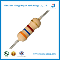 1/4W Carbon film Resistor 5% for 0207 package