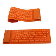 Wireless Flexible Bluetooth Roll up Keyboard Portable Silicone Rollup Waterproof Keyboard For IOS Windows Android Tablets