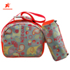Factory Latest Design Children School Bag Set Colorful 600D Cute School Bag Set(Lunch Bag and Pencil Case)