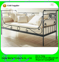 Hebei Factory Price Home Decor Wrought Iron Metal Sofa Cum Bed