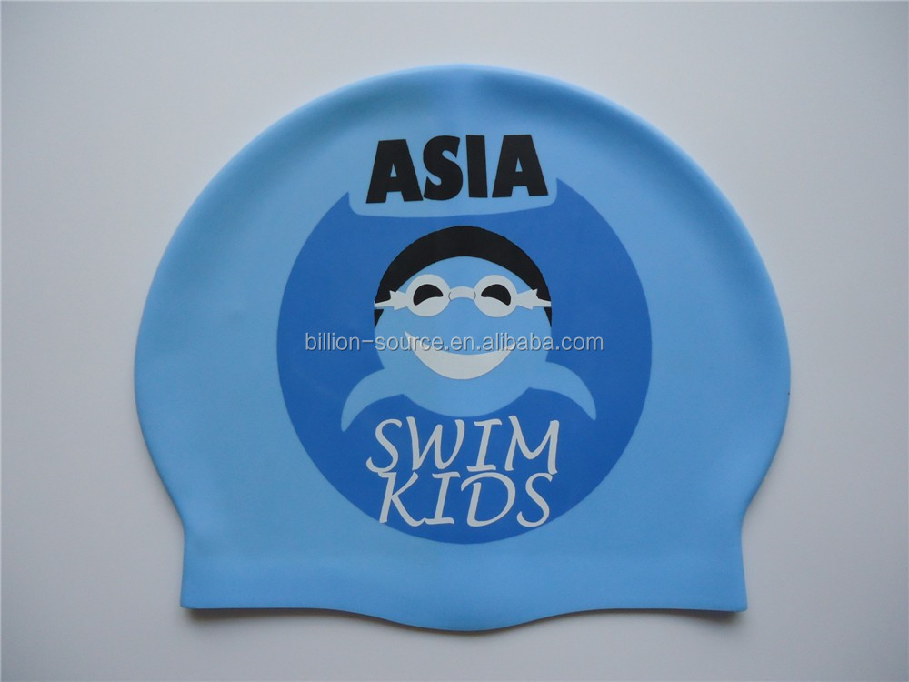 2016 Adult child silicone swimming cap with customized company logo