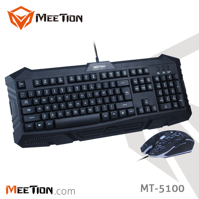 Manufacturer Direct Sell Cheapest But High Quality Backlit Ergonomic Silent Professional Gaming Keyboard and Mouse Combo