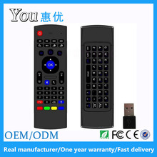 Huiyou high quality 2.4G mx3 remote keyboard with white backlit for android tv box