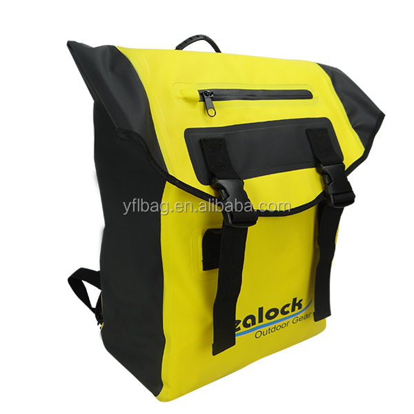 Waterproof Dry Backpack: 500D PVC, 30L with Welded Seams,Padded Back Support, Cushioned Adjustable Straps & front pocket