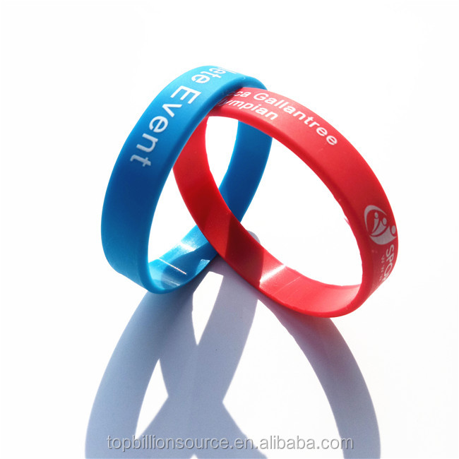 Custom cheap promotional youth silicone wristbands