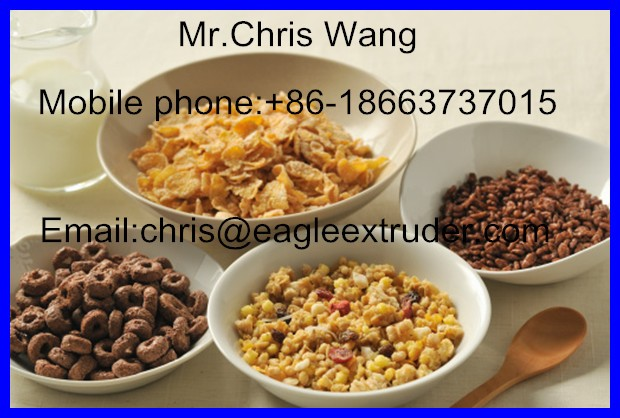 High Quality Extruded Breakfast Cereals Corn Flakes Machine