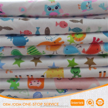 Wholesale 100% Cotton knitted jersey printed fabric for baby cloth