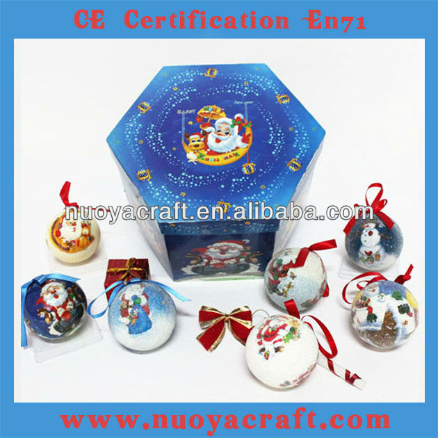 2013 best selling High quality decorative Christmas gift with 7cm diameter ball