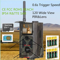 12MP Infrared Hunting Camera 3G SMS Remote Control Supporting 6V input Solar Panel