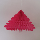 New product pink honeycomb christmas decorations