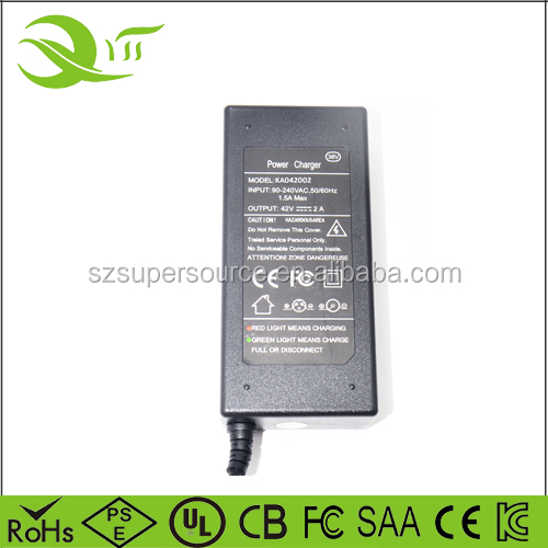 segway portable e bike battery charger chargeur 36v 1.5a for smart balancing scooter power adapter