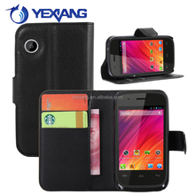 Custom made flip stand cover leather card slot phone wallet case for Wiko Ozzy