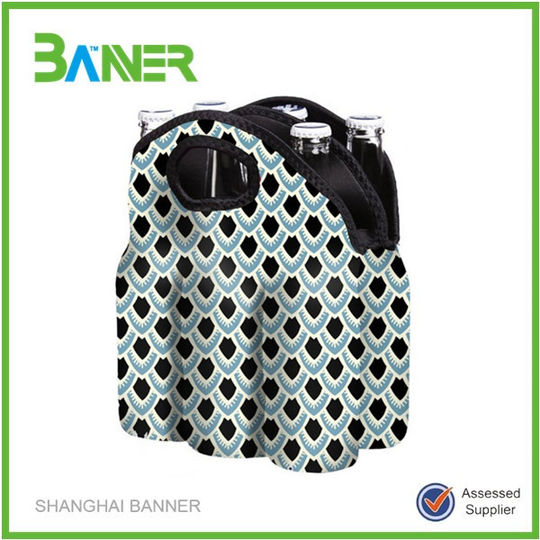 Neoprene insulated promotion six pack cooler bag wholesale