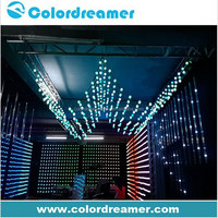 RGB full color dmx led crystal ball for nightclub disco background decor