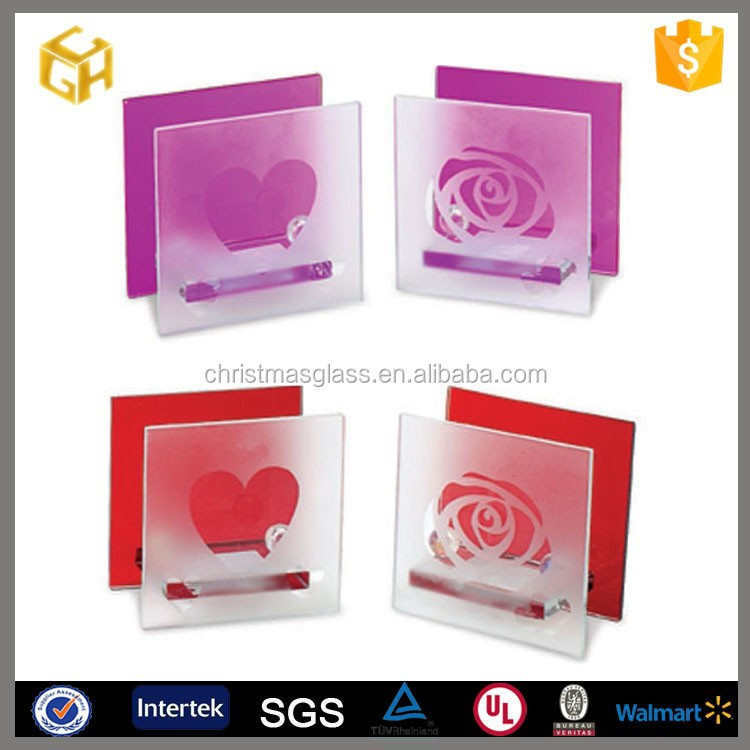 2015 valentine day gift Square curved line sample style valentines metal cheap gift