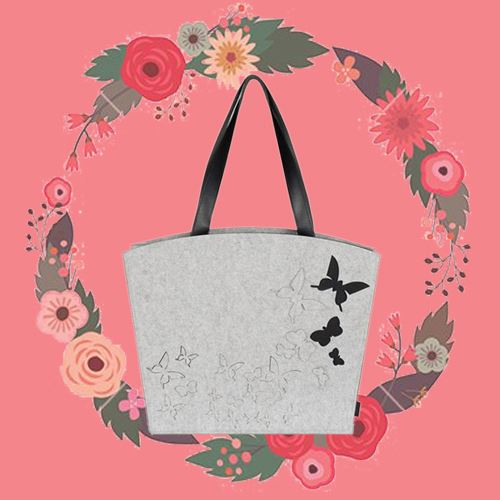 Patented design felt cordura tote bag for decoration