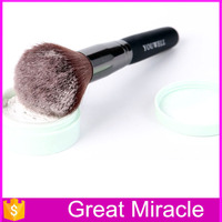 China art suppliers single pieces synthetic hair wood handle cosmetic kit podwer blush makeup brush set