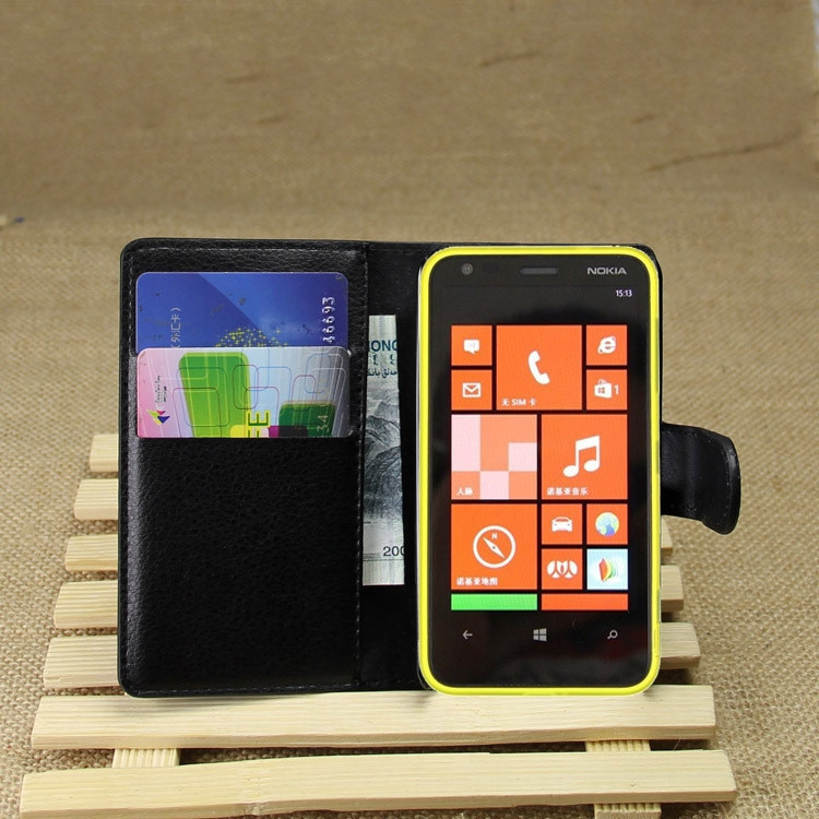 PU Leather flip wallet case cover for Nokia Lumia 620
