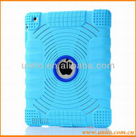 for iPad 3 2 Silicon Case With Dust plug&Logo Hole