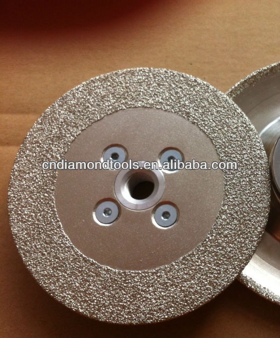 Flat shaped vacuum brazed diamond abrasive grinding wheel for stone