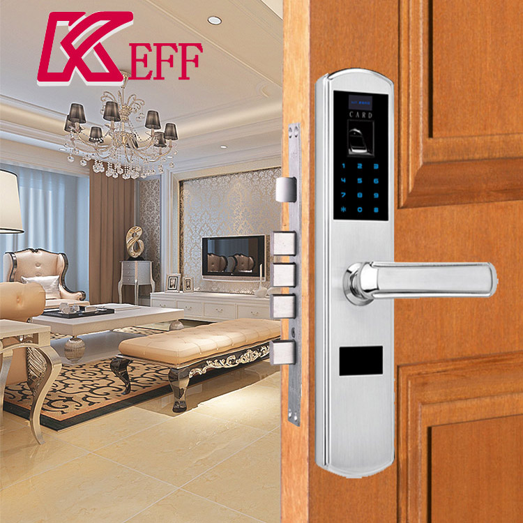 Card swipe Password mechanical key hotel door lock software With Professional Technical Support