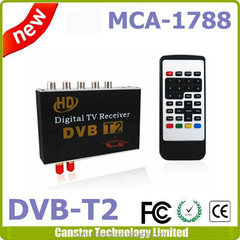 car tv tuner receiver compatible with DVB-T2 and H.264
