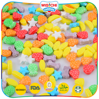 Funny various shaped delicious colorful pressed candy in bulk