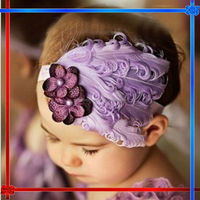 EH055 Baby Girl Infant Headband Bow Peacock Feather Beautiful Flower