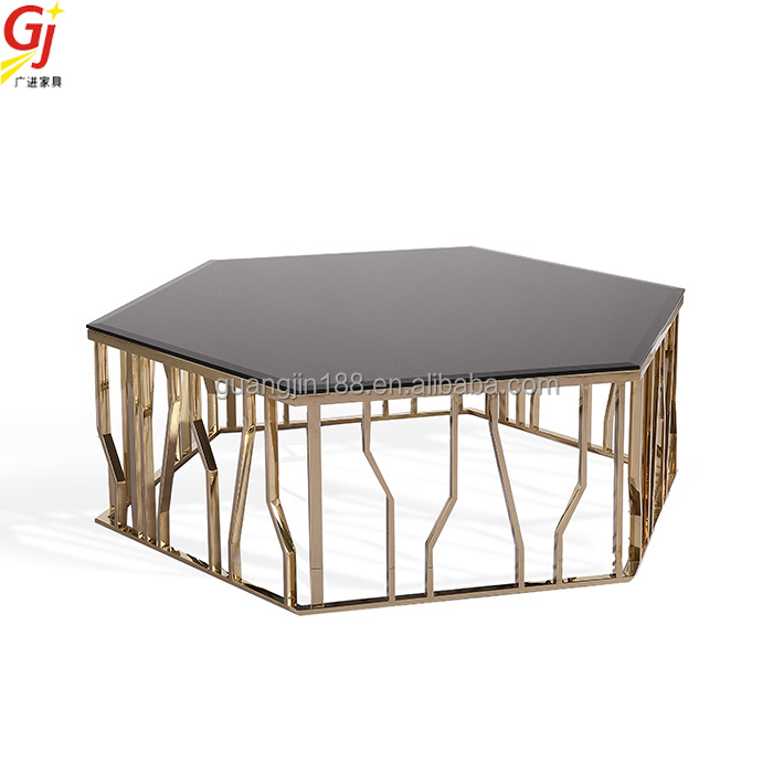 stainless steel polygon coffee table RT-2008L