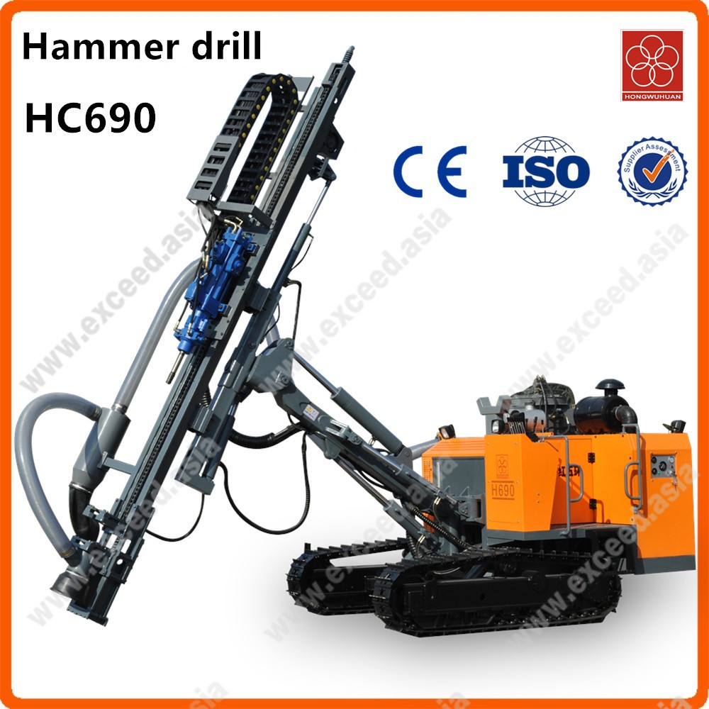 Small H690 pneumatic & hydraulic mechanical mini portable tophammer drill rigs for mining