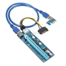 DIHAO High Performance 60cm pci-e x1 to x16 riser with usb 3.0 cable