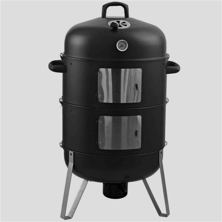 2016 Hot Selling Vertical Smoker Charcoal BBQ Grill with 3 in 1