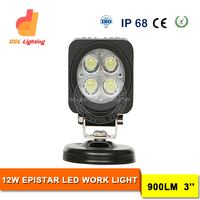 Factory Supply 12w led work light 3inch auto 12v led flood light