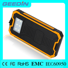 12000mah dual-usb waterproof solar charger bank battery power for cell phone