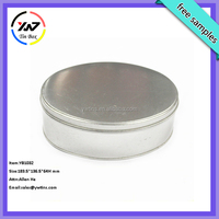 Delicate new customized designed china factory directly oval shaped tin box /oval large tin containers for storage