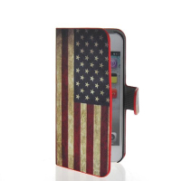 U.S American Flag Flip Leather Wallet Card Holder Pouch Stand Case Cover For Apple Iphone 5 5G 5S