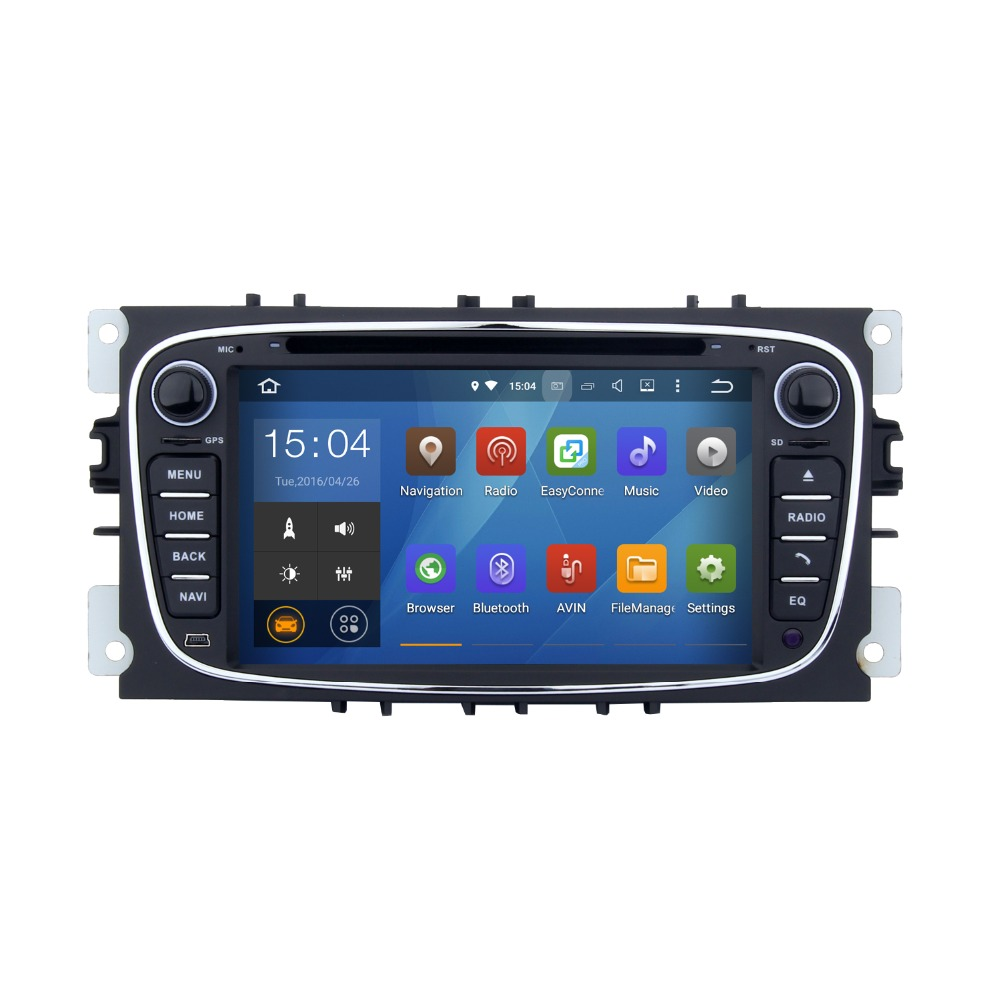 High Quality 7 inch Rear Camera Digital TV Android 5.1.1 car audio dvd player gps navigation system for Ford S Max
