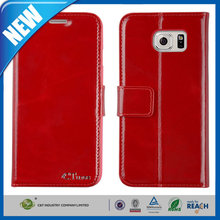 C&T C.tunes design red real wallet genuine leather case for samsung galaxy note 5
