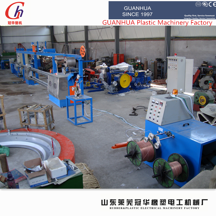 Power cable extrusion production line/ electrical wire extruder/ power wire cable making machine