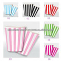 2400x 6 color Children's Party Accessories Vertical CANDY Stripes Disposable Party Paper Drink Cups Glasses , Free Shipping