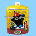 Ceramic Dog Food Storage Treat Jar Hair of the Dog