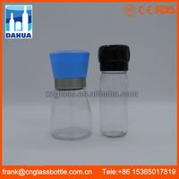 DH Ce Certified Black Chili Turkish Manual Glass Industrial Cheap Pepper Grinder Mechanism Mill In Best Bottle Wholesale