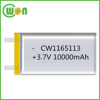 10000mAh Li po battery 3.7V Rechargeable battery 1165113 High quality Lithium ion battery PL1165113