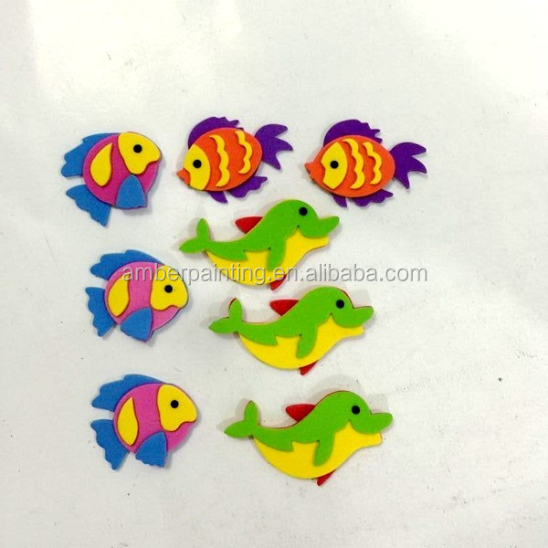 New coming designed sea animal 3d eva foam sticker